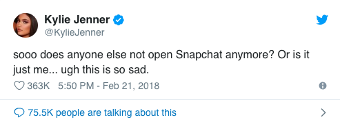 Influencer Marketing -Kylie and Snapchat